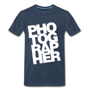 Navy Photographer T-Shirts - Men's Premium T-Shirt