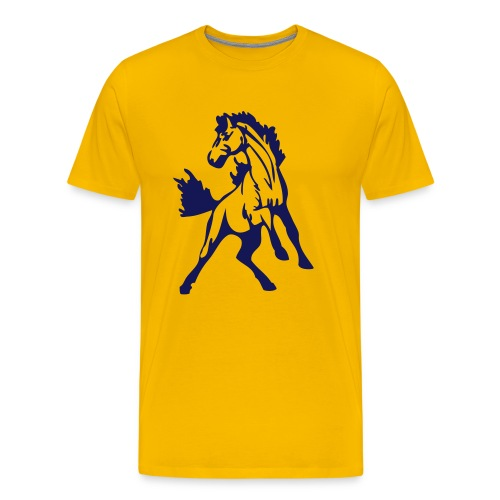 Mustangs Yellow - Men's Premium T-Shirt