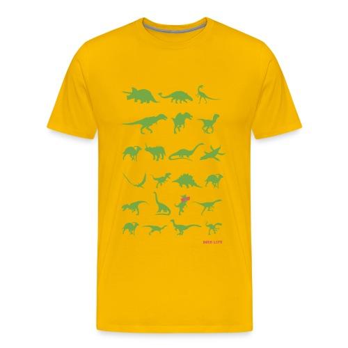 Dorm Life - Dinosaurs - Men's Premium T-Shirt