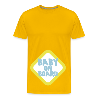 Gold baby on board sign T-Shirts