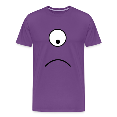 Purple alien single eye sad T-Shirts
