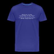T-Shirts ~ Men's Premium T-Shirt ~ Peace on Earth