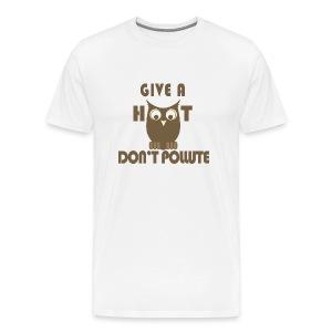 Give a Hoot, Don't Pollute - Men's Premium T-Shirt