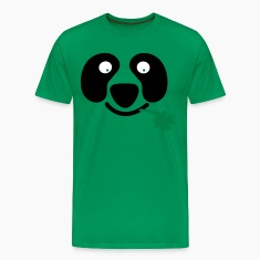Kelly green cute irish panda with clover leaf St Patricks Day T-Shirts