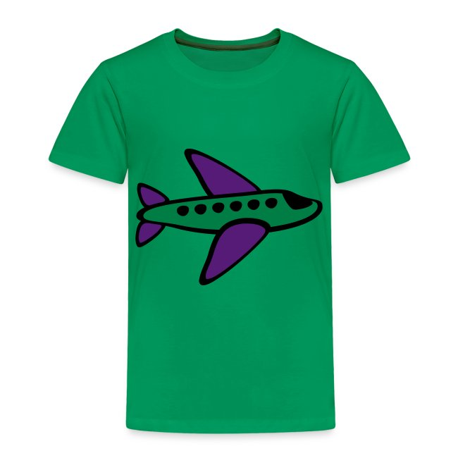 KKT 'Airplane, 3 Color' Toddler Tee, White