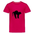 Hot pink black tomcat (1c) Kids' Shirts