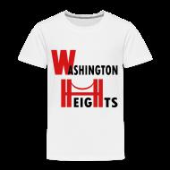 Baby & Toddler Shirts ~ Toddler Premium T-Shirt ~ KKT 'Washington Heights With Bridge' Toddler Tee, White