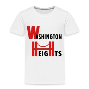 KKT 'Washington Heights With Bridge' Toddler Tee, White - Toddler Premium T-Shirt