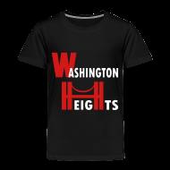 Baby & Toddler Shirts ~ Toddler Premium T-Shirt ~ KKT 'Washington Heights With Bridge' Toddler Tee, Black