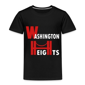 KKT 'Washington Heights With Bridge' Toddler Tee, Black - Toddler Premium T-Shirt