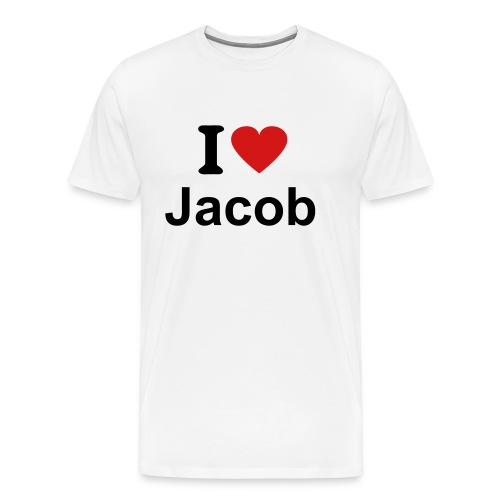 I Heart Jacob - Male Shirt - Men's Premium T-Shirt