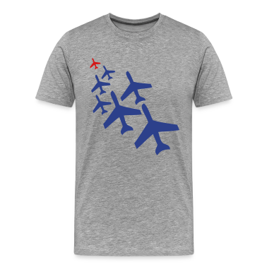 Heather grey top gun planes in a chasing formation T-Shirts