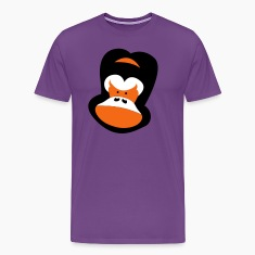 Purple gorilla face frowning T-Shirts