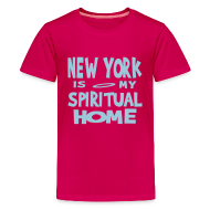 Kids' Shirts ~ Kids' Premium T-Shirt ~ KKT 'New York, Spiritual Home' Kids' Tee, Azalea