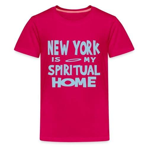 KKT 'New York, Spiritual Home' Kids' Tee, Azalea - Kids' Premium T-Shirt