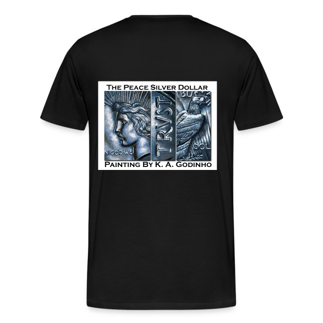 Peace Silver Dollar Men's T-shirt front and back