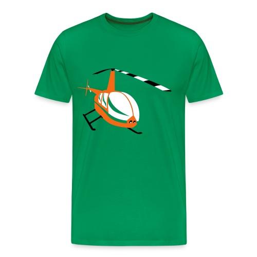 Men's Helicopter - Men's Premium T-Shirt