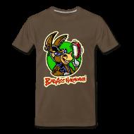T-Shirts ~ Men's Premium T-Shirt ~ BadAss Harmonica 3XL t-shirt (brown)