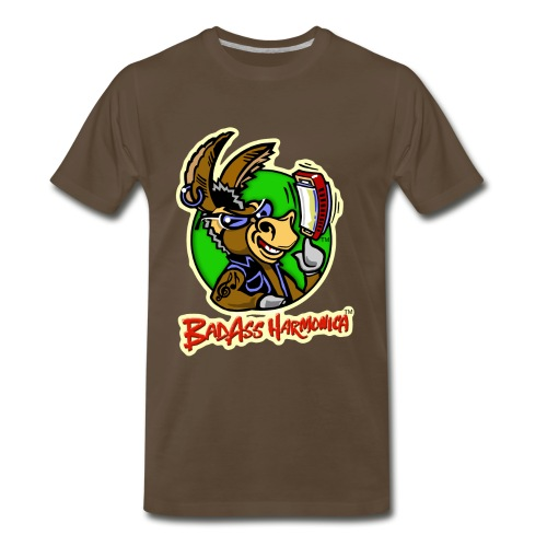 BadAss Harmonica 3XL t-shirt (brown) - Men's Premium T-Shirt