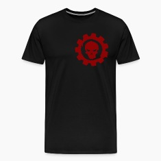 Black cog and skull T-Shirts