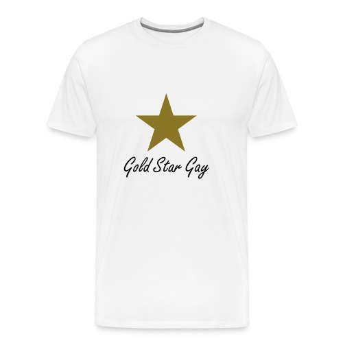 Gold Star Gay T-Shirt with Metallic Star - Men's Premium T-Shirt
