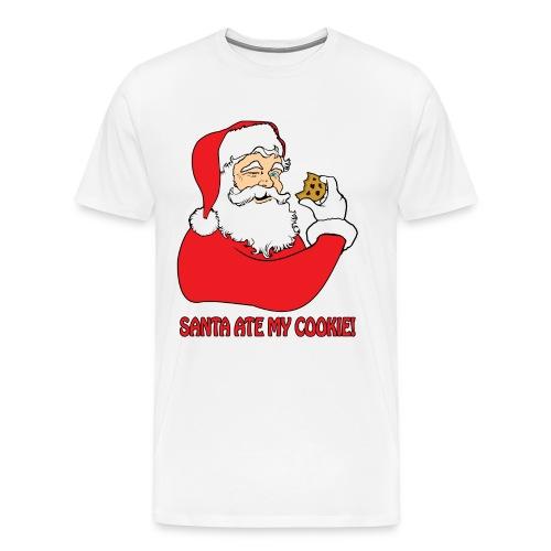 Santa Ate My Cookie (Men) - Men's Premium T-Shirt