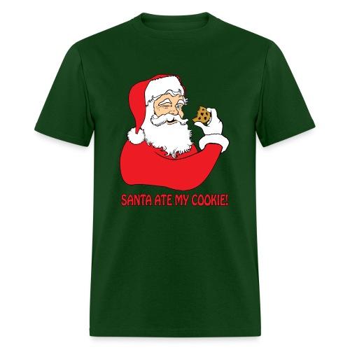 Santa Ate My Cookie (Men) - Men's T-Shirt