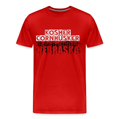 Nebraska Kosher Cornhusker - Men's Premium T-Shirt