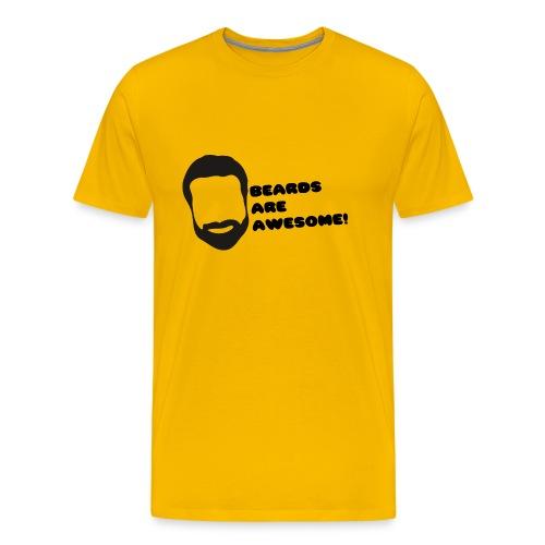 Beards Are Awesome! (Men's) - Light BG - Men's Premium T-Shirt