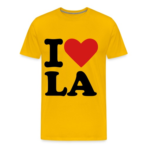 I LOVE LA - ORANGE - Men's Premium T-Shirt