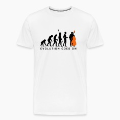 White evolution_bass_2c_b T-Shirts