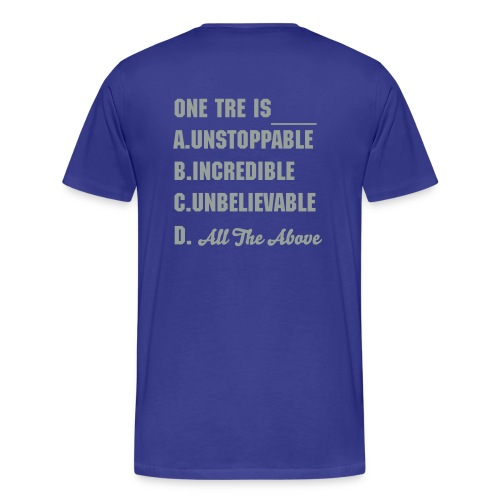 One Tre Blue - Men's Premium T-Shirt