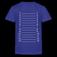 Kids' Shirts ~ Kids' Premium T-Shirt ~ Royal Blue & White Kids Length Shirt