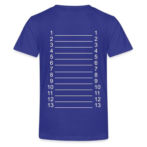 Royal Blue & White Kids Length Shirt - Kids' Premium T-Shirt
