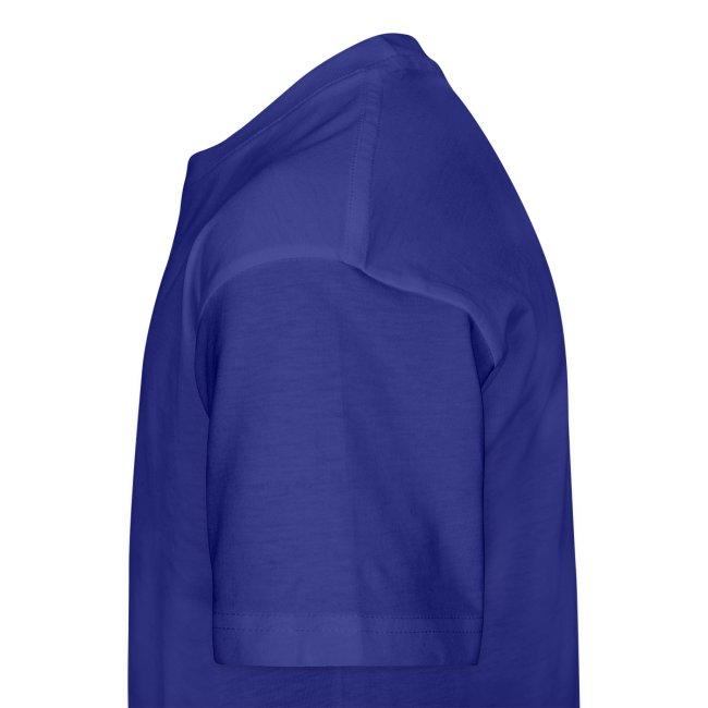 Royal Blue & White Kids Length Shirt