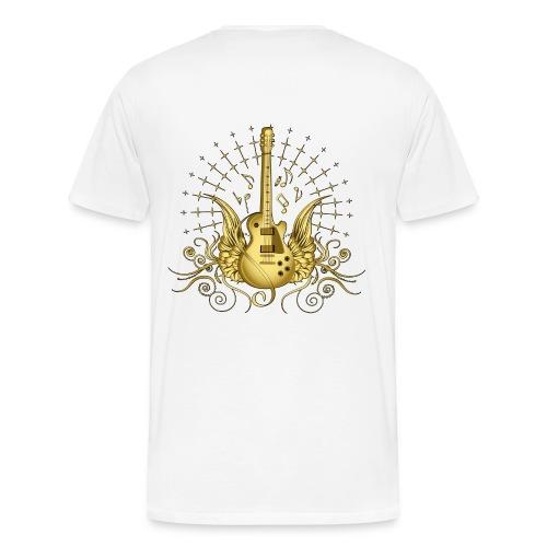 His Crew Golden guitar - Men's Premium T-Shirt