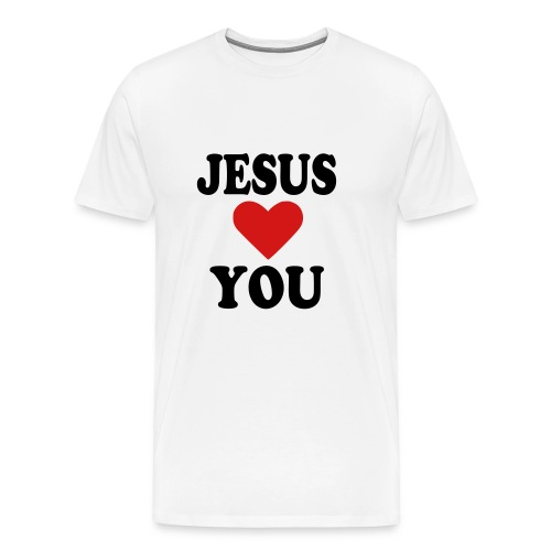 Jesus Loves You!!! - Men's Premium T-Shirt