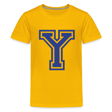 Yellow Letter Y Kids' Shirts