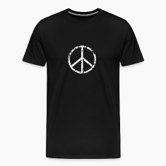 Peace Sign T-Shirt - White on black