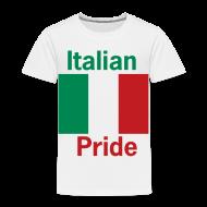 Baby & Toddler Shirts ~ Toddler Premium T-Shirt ~ Toddler Italian Pride, White