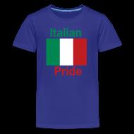 Kids' Shirts ~ Kids' Premium T-Shirt ~ Kids Italian Pride, Blue