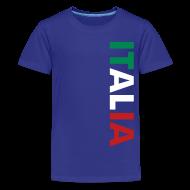 Kids' Shirts ~ Kids' Premium T-Shirt ~ Kids ITALIA Tricolore, Blue