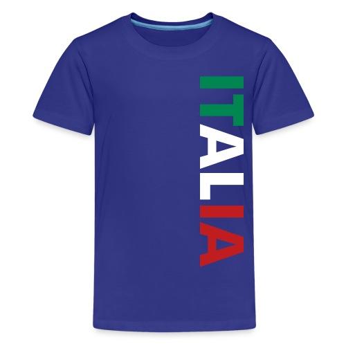 Kids ITALIA Tricolore, Blue - Kids' Premium T-Shirt