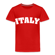 Baby & Toddler Shirts ~ Toddler Premium T-Shirt ~ Toddler Italy, White on Red