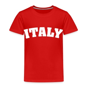 Toddler Italy, White on Red - Toddler Premium T-Shirt