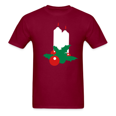 Burgundy christmas christian candles beautiful  T-Shirts
