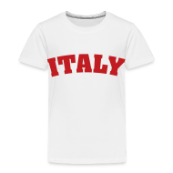 Baby & Toddler Shirts ~ Toddler Premium T-Shirt ~ Toddler Italy, Red on White