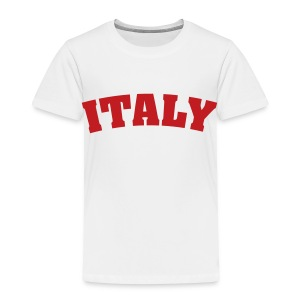 Toddler Italy, Red on White - Toddler Premium T-Shirt