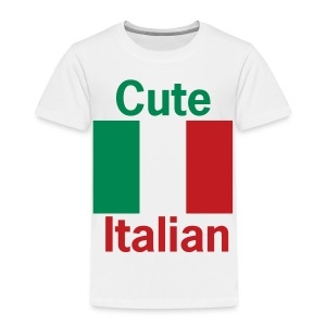 Toddler Cute Italian, White - Toddler Premium T-Shirt