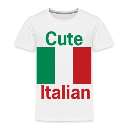 Toddler Cute Italian, White - Toddler Premium T-Shirt